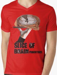 Slice Of Brain Mens V-Neck T-Shirt