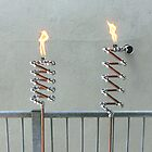 Copper and Chrome Slinki Tiki Torch - FredPereiraStudios.com_Page_09 by Fred Pereira