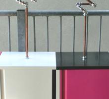 Copper and Chrome Slinki Tiki Torch - FredPereiraStudios.com_Page_10 Sticker
