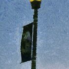 Lamppost With Banner by Jean Gregory  Evans