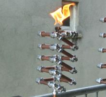 Copper and Chrome Slinki Tiki Torch - FredPereiraStudios.com_Page_11 Sticker