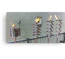 Copper and Chrome Slinki Tiki Torch - FredPereiraStudios.com_Page_11 Canvas Print