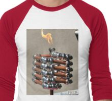 Copper and Chrome Slinki Tiki Torch - FredPereiraStudios.com_Page_13 Men's Baseball ¾ T-Shirt