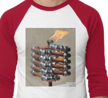 Copper and Chrome Slinki Tiki Torch - FredPereiraStudios.com_Page_14 Men's Baseball ¾ T-Shirt