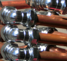 Copper and Chrome Slinki Tiki Torch - FredPereiraStudios.com_Page_14 Sticker