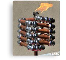 Copper and Chrome Slinki Tiki Torch - FredPereiraStudios.com_Page_14 Canvas Print