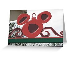 Mickey Ornament Greeting Card