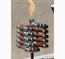 Copper and Chrome Slinki Tiki Torch - FredPereiraStudios.com_Page_15 Men's Baseball ¾ T-Shirt