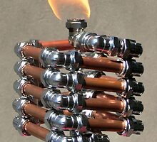 Copper and Chrome Slinki Tiki Torch - FredPereiraStudios.com_Page_15 by Fred Pereira