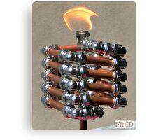 Copper and Chrome Slinki Tiki Torch - FredPereiraStudios.com_Page_15 Canvas Print