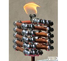 Copper and Chrome Slinki Tiki Torch - FredPereiraStudios.com_Page_15 Photographic Print