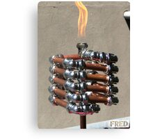 Copper and Chrome Slinki Tiki Torch - FredPereiraStudios.com_Page_16 Canvas Print