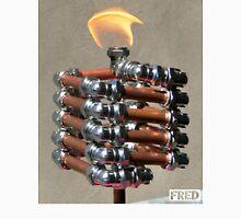 Copper and Chrome Slinki Tiki Torch - FredPereiraStudios.com_Page_16 Men's Baseball ¾ T-Shirt