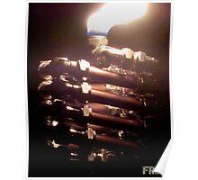Copper and Chrome Slinki Tiki Torch - FredPereiraStudios.com_Page_18 Poster