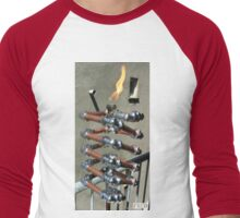 Copper and Chrome Slinki Tiki Torch - FredPereiraStudios.com_Page_19 Men's Baseball ¾ T-Shirt