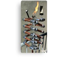 Copper and Chrome Slinki Tiki Torch - FredPereiraStudios.com_Page_19 Canvas Print