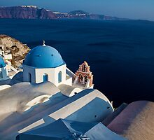 Town Oia on the Greek island of Santorini by Reuven Brenner