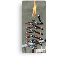 Copper and Chrome Slinki Tiki Torch - FredPereiraStudios.com_Page_20 Canvas Print