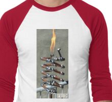 Copper and Chrome Slinki Tiki Torch - FredPereiraStudios.com_Page_20 Men's Baseball ¾ T-Shirt
