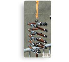Copper and Chrome Slinki Tiki Torch - FredPereiraStudios.com_Page_22 Canvas Print
