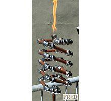 Copper and Chrome Slinki Tiki Torch - FredPereiraStudios.com_Page_22 Photographic Print