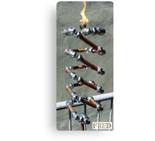 Copper and Chrome Slinki Tiki Torch - FredPereiraStudios.com_Page_25 Canvas Print