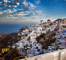 Oia on the Greek island of Santorini by Reuven Brenner