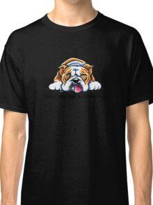 Being Adorable Bulldog Blue Classic T-Shirt