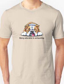 Being Adorable Bulldog Blue Unisex T-Shirt