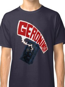 """""""Geronimo!"""" The 11th Doctor Classic T-Shirt"""