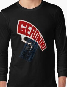 """Geronimo!"" The 11th Doctor Long Sleeve T-Shirt"