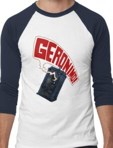 """Geronimo!"" The 11th Doctor Men's Baseball ¾ T-Shirt"