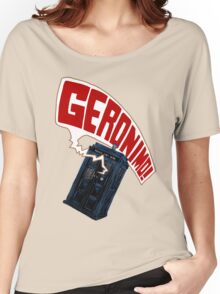 """Geronimo!"" The 11th Doctor Women's Relaxed Fit T-Shirt"