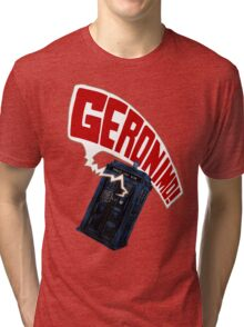 """Geronimo!"" The 11th Doctor Tri-blend T-Shirt"