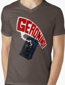 """Geronimo!"" The 11th Doctor Mens V-Neck T-Shirt"