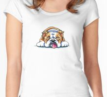 Being Adorable Bulldog Pink Women's Fitted Scoop T-Shirt