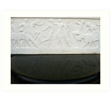 Art Deco 1924 Bas Relief sculpture Art Print