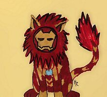 Iron Man Lion by Artsygingy