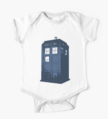 Minimalist TARDIS from Doctor Who One Piece - Short Sleeve