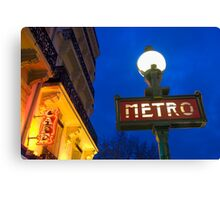 Metro Station in Paris Canvas Print