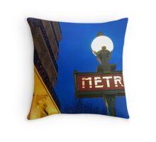 Metro Station in Paris Throw Pillow