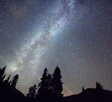 Mountain Milky Way Stary Night View by Bo Insogna