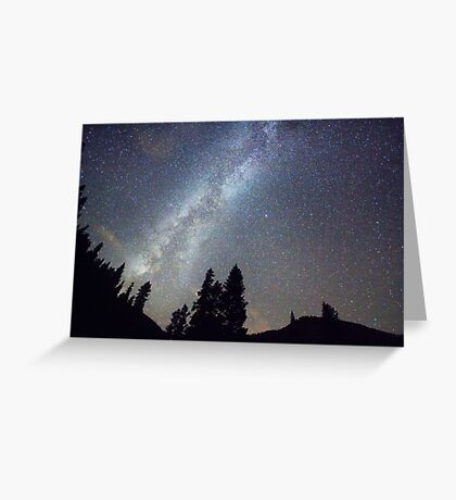 Mountain Milky Way Stary Night View Greeting Card