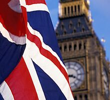 Union Flag And Big Ben by printscapes