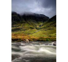 Glen Coe Tempest Photographic Print