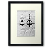 The Birds minimalistic movie poster Framed Print