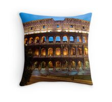 Rome Colosseum at Dusk Throw Pillow