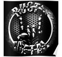 Rusty Metal Logo 1 Poster