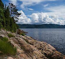 Coastal Beauty of Saguenay River in Quebec, Canada by Georgia Mizuleva