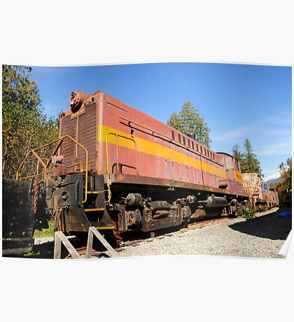 Old Train Wagon at Rest Poster